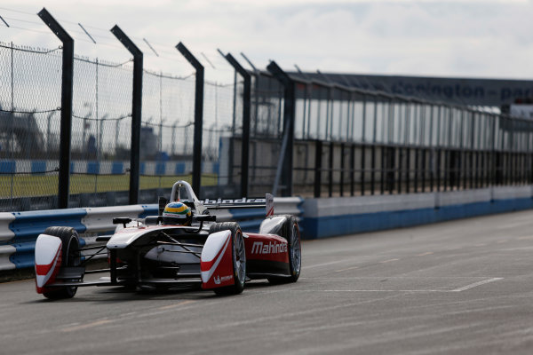 FIA Formula E Test Day, Donington Park, UK.  3rd - 4th July 2014.  Bruno Senna, Mahindra Racing. Photo: Zak Mauger/FIA Formula E ref: Digital Image _L0U4459