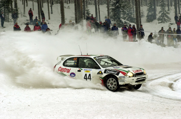 2001 World Rally Championship.   Swedish Rally. 9th - 11th February 2001. Rd 2. Daniel Carlsson brought his skill to the attention of many people, finishing strongly in 7th place. World Copyright: Ralph Hardwick/ LAT Photographic. Ref: Carlsson4 2