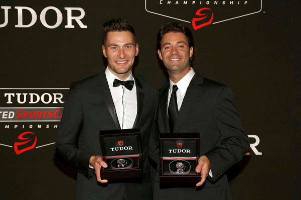 13 October, 2014, New York, New York USA Tudor Championship watch presentation, Kuno Wittmer, jonathan Bomarito ©2014, Todd Davis LAT Photo USA