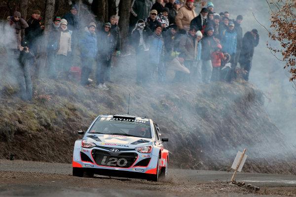 2014 World Rally Championship Monte Carlo Rally 13th - 19th January 2014 Dani Sordo, Hyundai, action  Worldwide Copyright: McKlein/LAT