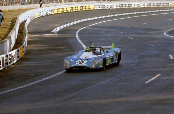 1972 Le Mans 24 hours.Le Mans, France. 10-11 June 1972.Henri Pescarolo/Graham Hill (Matra-Simca MS670), 1st position, action.World Copyright: LAT Photographic.Ref: 35mm transparency.