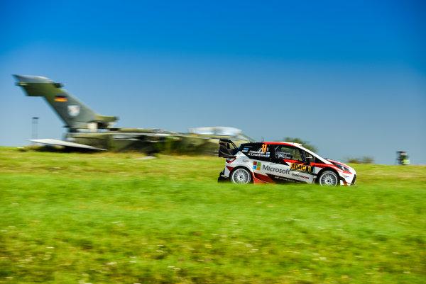 2017 FIA World Rally Championship, Round 10, Rallye Deutschland, 17-20 August, 2017, Juho Hanninen, Toyota, action, Worldwide Copyright: McKlein/LAT