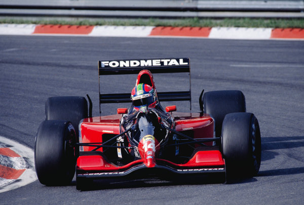 1992 Belgian Grand Prix.Spa-Francorchamps, Belgium. 28-30 August 1992.Eric van de Poele (Fondmetal GR02 Ford) 10th position.Ref-92 BEL 28.World Copyright - LAT Photographic