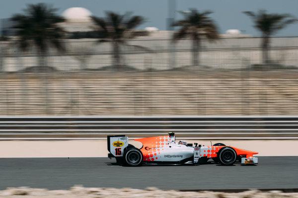 Bahrain International Circuit, Sakhir, Bahrain. Wednesday 29 March 2017 Jordan King (GBR) MP Motorsport  Photo: Malcolm Griffiths/FIA Formpula 2 ref: Digital Image MALC5497 2