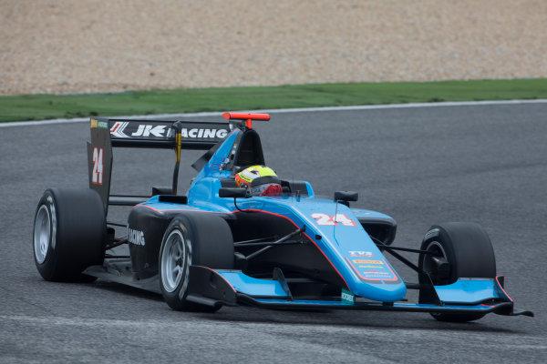 2017 GP3 Series Testing Estoril, Portugal. Thursday 23 March 2017 Arjun Maini (IND, Jenzer Motorsport). Action.  Photo: Alastair Staley/GP3 Series Media Service ref: Digital Image 580A4047