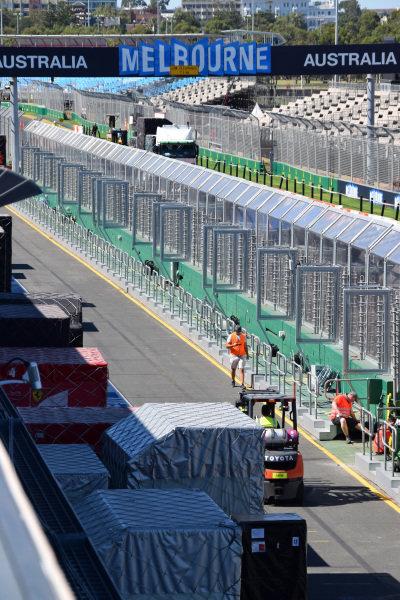 Preparations at Albert Park. Formula One World Championship, Rd1, Australian Grand Prix, Preparations, Albert Park, Melbourne, Australia, Sunday 9 March 2014.