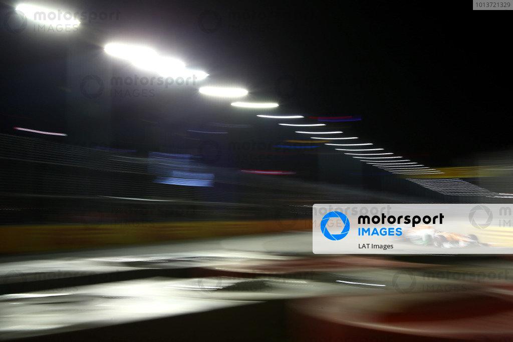 Marina Bay Circuit, Singapore21st September 2012Nico Hulkenberg, Force India VJM05 Mercedes. World Copyright: Andy Hone/LAT Photographicref: Digital Image HONZ2704
