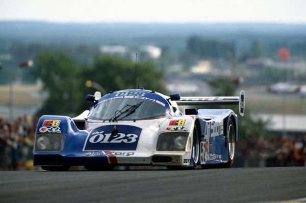 Le Mans, France. 22 - 23 June 1991.Eje Elgh/Roland Ratzenberger/Will Hoy (Porsche 962C), retired, action. World Copyright: LAT Photographic.Ref:  91LM25.