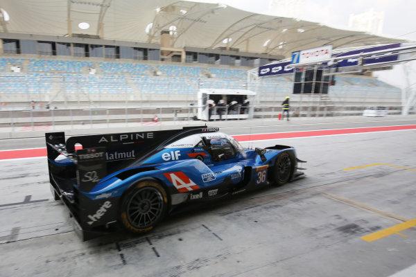 2017 FIA World Endurance Championship Rookie Test, Bahrain International Circuit, Bahrain. 19th November 2017, Gabriel Aubry (FRA) Signatech Alpine Matmut Alpine A470 - Gibson World Copyright. JEP/LAT Images