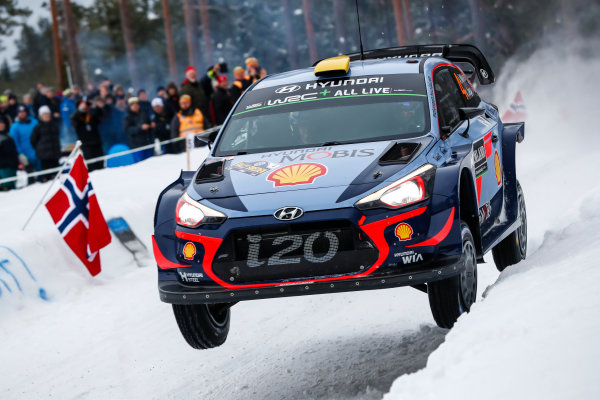 2018 FIA World Rally Championship, Round 02, Rally Sweden 2018, February 15-18, 2018. Andreas Mikkelsen, Hyundai, action, Worldwide Copyright: McKlein/LAT
