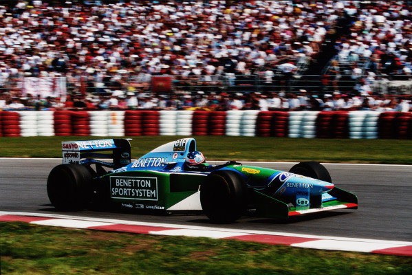 1994 Canadian Grand Prix.Montreal, Quebec, Canada.10-12 June 1994.Michael Schumacher (Benetton B194 Ford) 1st position.Ref-94 CAN 06.World Copyright - LAT Photographic