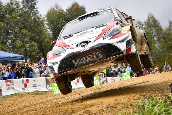Jari-Matti Latvala (FIN) / Miikka Anttila (FIN), Toyota Gazoo Racing Toyota Yaris WRC at World Rally Championship, Rd13, Rally Australia, Day Three, Coffs Harbour, New South Wales, Australia, 19 November 2017.