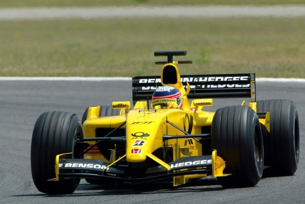 Takuma Sato (JPN) Jordan Honda EJ12Formula One Testing, Barcelona, Spain, 25 June 2002.