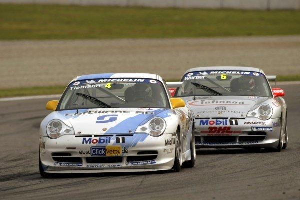 Marcel Tiemann (GER) Manthey Racing finished fifth. Spanish Grand Prix, Barcelona, 28 April 2002.DIGITAL IMAGE