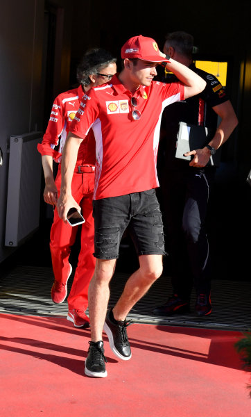 Charles Leclerc, Ferrari leaves the stewards office
