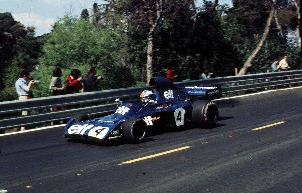 1973 Spanish Grand Prix.Montjuich Park, Barcelona, Spain.27-29 April 1973.Francois Cevert (Tyrrell 006 Ford) 2nd position.Ref-73 ESP 52.World Copyright - LAT Photographic