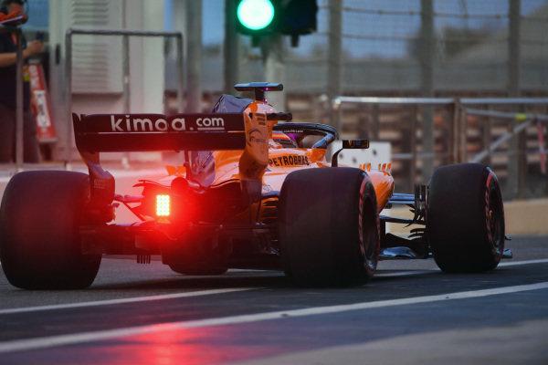 Lando Norris, McLaren MCL33 and green light