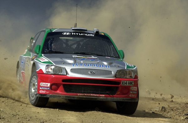 World Rally Championship, Cyprus Rally, April 18-21, 2002.Freddy Loix in action on Stage 1, Leg 1.Photo: Ralph Hardwick/LAT
