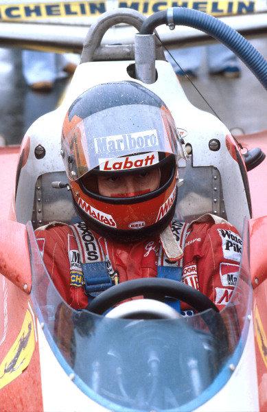 1978 Canadian Grand Prix.Montreal, Quebec, Canada.6-8 October 1978.Gilles Villeneuve (Ferrari) 1st position for his maiden Grand Prix win. Ref-78 CAN 13.World Copyright - LAT Photographic