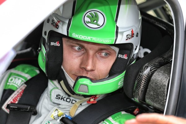 Pontus Tidemand (SWE), Skoda Motorsport WRC2 at FIA World Rally Championship, Rd7, Rally Poland, Day Two, Mikolajki, Poland, 2 July 2016.