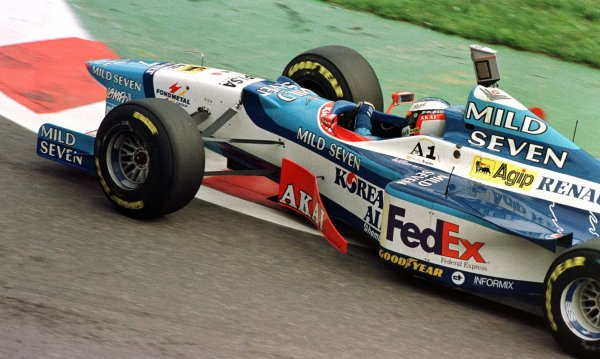 1997 Belgian Grand Prix.Spa-Francorchamps, Belgium.22-24 August 1997.Jean Alesi (Benetton 197 Renault).World Copyright - Leicester/LAT Photographic
