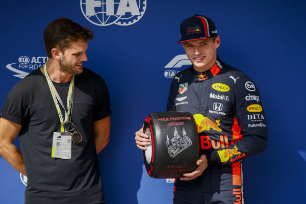 Max Verstappen, Red Bull Racing, receives the Pirelli Pole Position Award