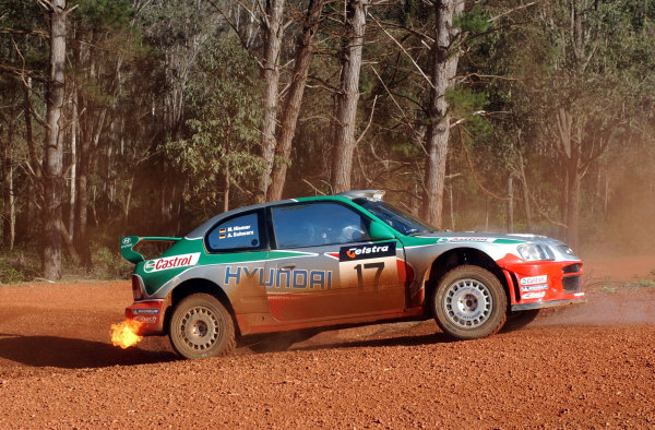 2002 World Rally Championship.Telstra Rally Australia, Perth. October 31st-November 3rd.Armin Schwarz comes to a halt on stage 7 and retires.Photo: Ralph Hardwick/LAT