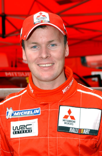 2002 World Rally Championship.Network Q Rally of Great Britain, Cardiff. November 14-17. Justin Dale at the shakedown service area.Photo: Ralph Hardwick/LAT