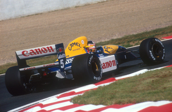 1991 French Grand Prix.Magny-Cours, France.5-7 July 1991.Nigel Mansell (Williams FW14 Renault) 1st position.Ref-91 FRA 10.World Copyright - LAT Photographic