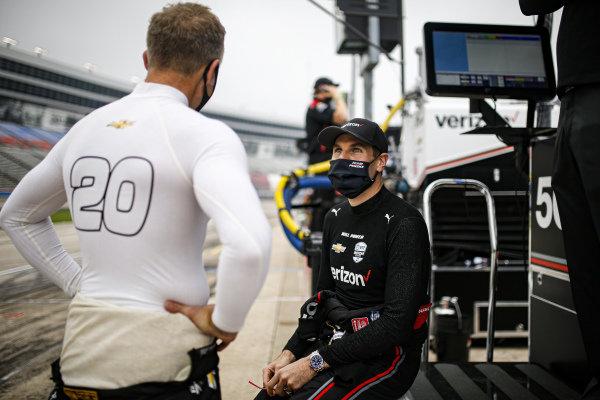 #12: Will Power, Team Penske Chevrolet and #20: Ed Carpenter, Ed Carpenter Racing Chevrolet