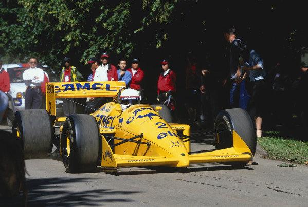 2002 Goodwood Festival of SpeedGoodwood, England. 12th - 14th July 2002.Satoru Nakajima, Lotus Honda 100T.World Copyright: Jeff Bloxham/LAT Photographicref: 35mm Image A10