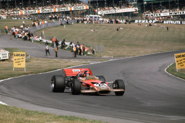 Brands Hatch, England. 16th - 18th July 1970.Emerson Fittipaldi (Lotus 49B-Ford), 8th position, action.World Copyright: LAT Photographic.Ref:  70GB03.
