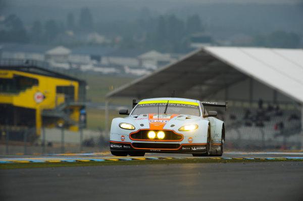 9th June, 2013, Le Mans, France Aston Martin Racing: Peter Dumbreck, Stefan Mücke, Darren Turner, Johnny Adam.(c) 2013, Camden Thrasher LAT Photo USA