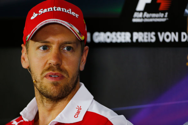 Hockenheim, Germany. Thursday 28 July 2016. Sebastian Vettel, Ferrari.  World Copyright: Andy Hone/LAT Photographic ref: Digital Image _ONY5853