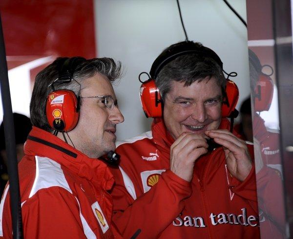Pat Fry (GBR) Ferrari Deputy Technical Director and Head of Race Engineering. (left)Formula One Testing, Day 3, Jerez, Spain, Thursday 9 February 2012.