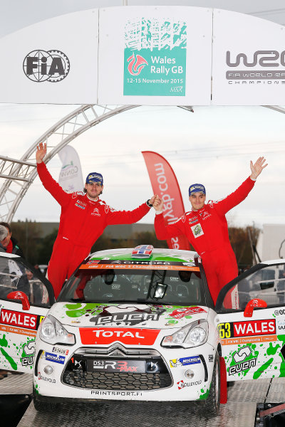 2015 World Rally Championship, Round 13, Rally of Wales GB, 12th - 15th November, 2015 Ole-Christian Veiby, DS, winner J-WRC  Worldwide Copyright: McKlein/LAT