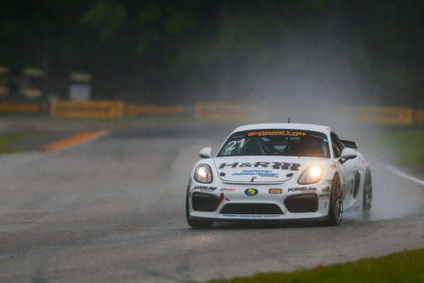 IMSA Continental Tire SportsCar Challenge Road America 120 Road America, Elkhart Lake, WI USA Friday 4 August 2017 21, Porsche, Porsche Cayman GT4, GS, Moritz Kranz, Gabriele Piana World Copyright: Jake Galstad LAT Images