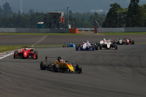 2017 Japanese Formula 3 Championship. Fuji, Japan. 8th - 9th July 2017. Rd 12 & 13. Rd12 Start of the race action World Copyright: Yasushi Ishihara / LAT Images. Ref: 2017JF3_Rd12&13_001