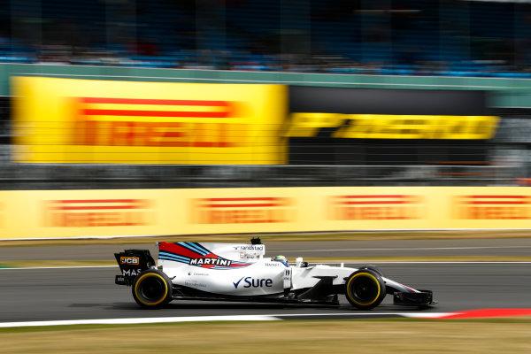 Silverstone, Northamptonshire, UK.  Friday 14 July 2017. Felipe Massa, Williams FW40 Mercedes. World Copyright: Glenn Dunbar/LAT Images  ref: Digital Image _31I2929