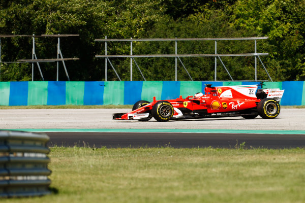 Hungaroring, Budapest, Hungary.  Tuesday 01 August 2017. Charles Leclerc, Ferrari SF70H, off the circuit. World Copyright: Joe Portlock/LAT Images  ref: Digital Image _R3I0466