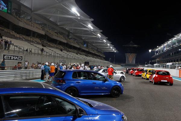 Yas Marina Circuit, Abu Dhabi, United Arab Emirates Saturday 3rd November 2012. Road cars on the start/finish straight. World Copyright:Charles Coates/  ref: Digital Image _N7T5093