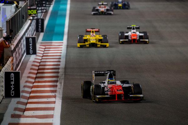 2017 FIA Formula 2 Round 11. Yas Marina Circuit, Abu Dhabi, United Arab Emirates. Saturday 25 November 2017. Sergio Sette Camara (BRA, MP Motorsport).  Photo: Zak Mauger/FIA Formula 2. ref: Digital Image _X0W8795