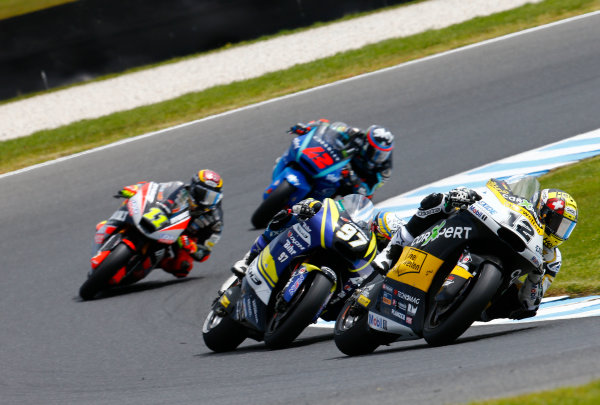 2017 Moto2 Championship - Round 16 Phillip Island, Australia. Sunday 22 October 2017 Thomas Luthi, CarXpert Interwetten World Copyright: Gold and Goose / LAT Images ref: Digital Image 24757
