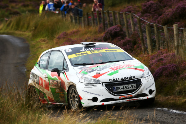 2017 British Rally Championship, Ulster Rally, Londonderry. 18th - 19th August 2017. Marty Gallagher / Dean O'Sullivan Peugeot 208 R2 World Copyright: JEP/LAT Images.