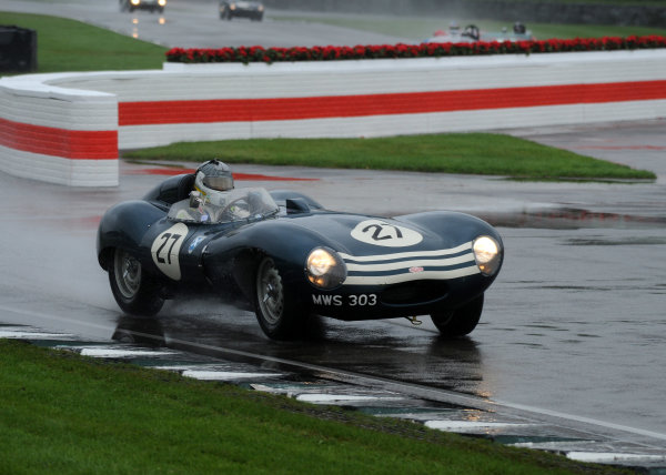 2017 Goodwood Revival, Goodwood Estate, West Sussex, England.  8th-10th September 2017 Sussex Trophy Stefan Zeigler Jaguar D-Type World Copyright: Jeff Bloxham/LAT Images, Ref: Digital Image