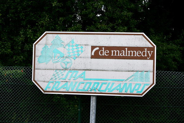 Spa Francorchamps, Spa, Belgium.4th September 2008.Circuit signage at Malmedy corner. Atmosphere.World Copyright: Andrew Ferraro/LAT Photographicref: Digital Image VY9E8470