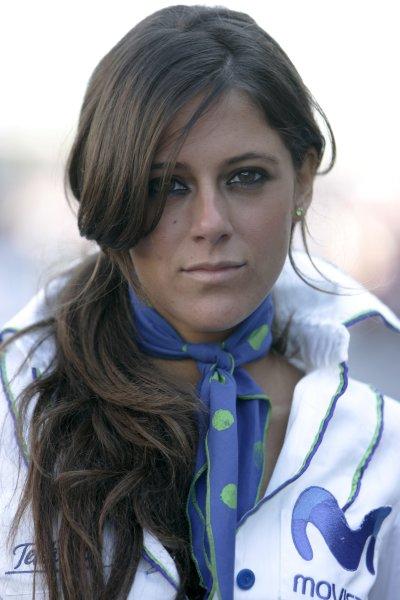 2008 GP2 Series. Round 1. Sunday Race.Barcelona, Spain. 27th April 2008Grid girl. Action. World Copyright: Alastair Staley/GP2 Series Media Service.ref:__MG_6512 jpg