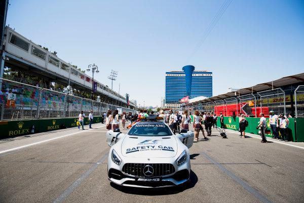 2017 FIA Formula 2 Round 4. Baku City Circuit, Baku, Azerbaijan. Saturday 24 June 2017. Safety Car on the grid. Photo: Zak Mauger/FIA Formula 2. ref: Digital Image _54I1075