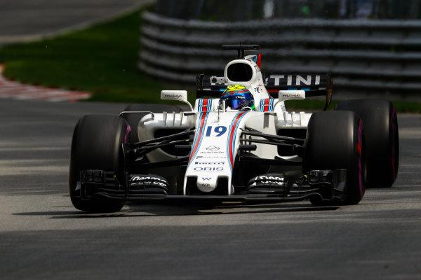 Circuit Gilles Villeneuve, Montreal, Canada. Friday 09 June 2017. Felipe Massa, Williams FW40 Mercedes. World Copyright: Steven Tee/LAT Images ref: Digital Image _O3I9043
