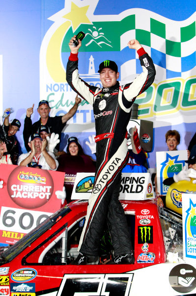 16-17 May, 2013, Concord, North Carolina USA Kyle Busch celebrates his win in Victory Lane ©2013, Matthew T Thacker LAT Photo USA